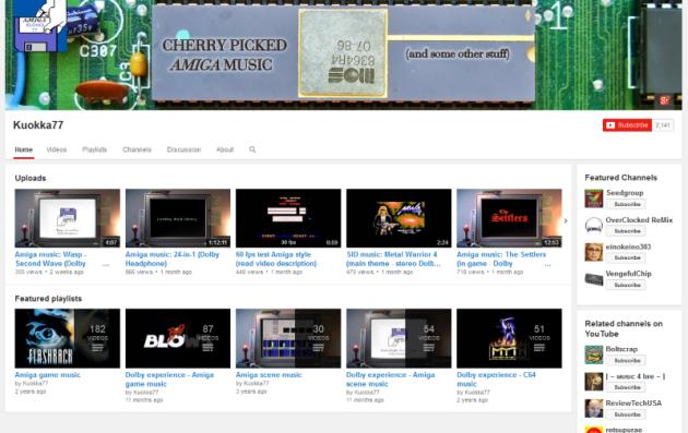 Amiga music for headphones (screenshot by Old School Game Blog)